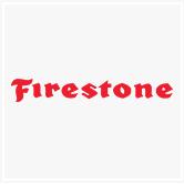 בתמונה -לוגו של Firestone ((יצרנית של צמיגים)
